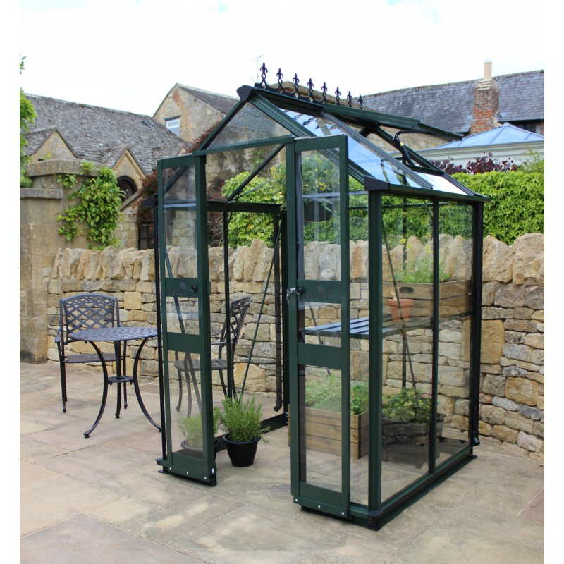 gew chshaus 1 95m aus sicherheitsglas birdlip gr n eden greenhouses. Black Bedroom Furniture Sets. Home Design Ideas