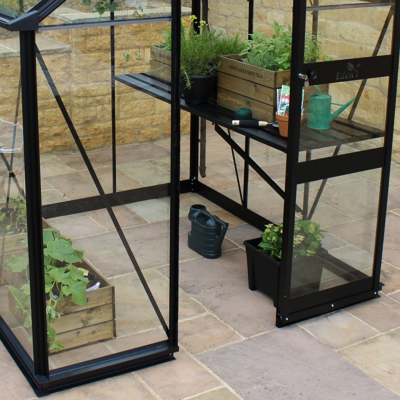 gew chshaus 3 77m aus sicherheitsglas burford schwarz eden greenhouses. Black Bedroom Furniture Sets. Home Design Ideas