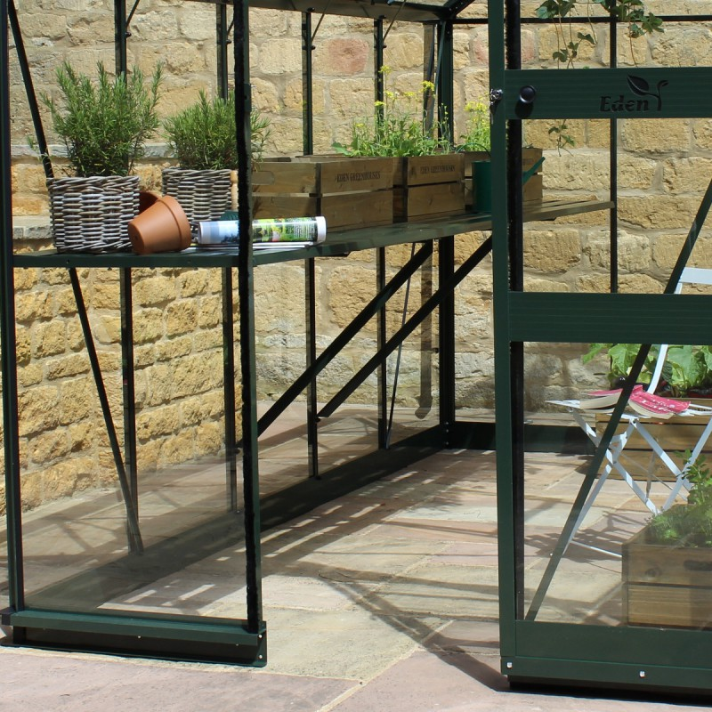 gew chshaus 6 17m aus sicherheitsglas burford gr n eden greenhouses. Black Bedroom Furniture Sets. Home Design Ideas