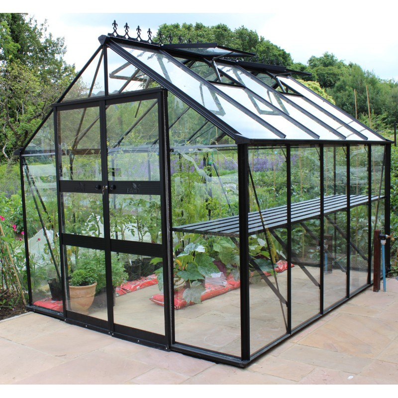 gew chshaus 8 13m sicherheitsglas blockley schwarz eden greenhouses. Black Bedroom Furniture Sets. Home Design Ideas