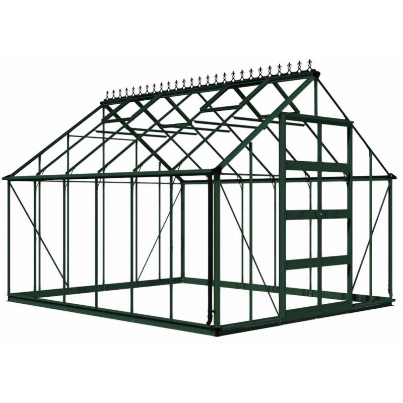 gew chshaus 12 06m aus sicherheitsglas bourton gr n eden greenhouses. Black Bedroom Furniture Sets. Home Design Ideas