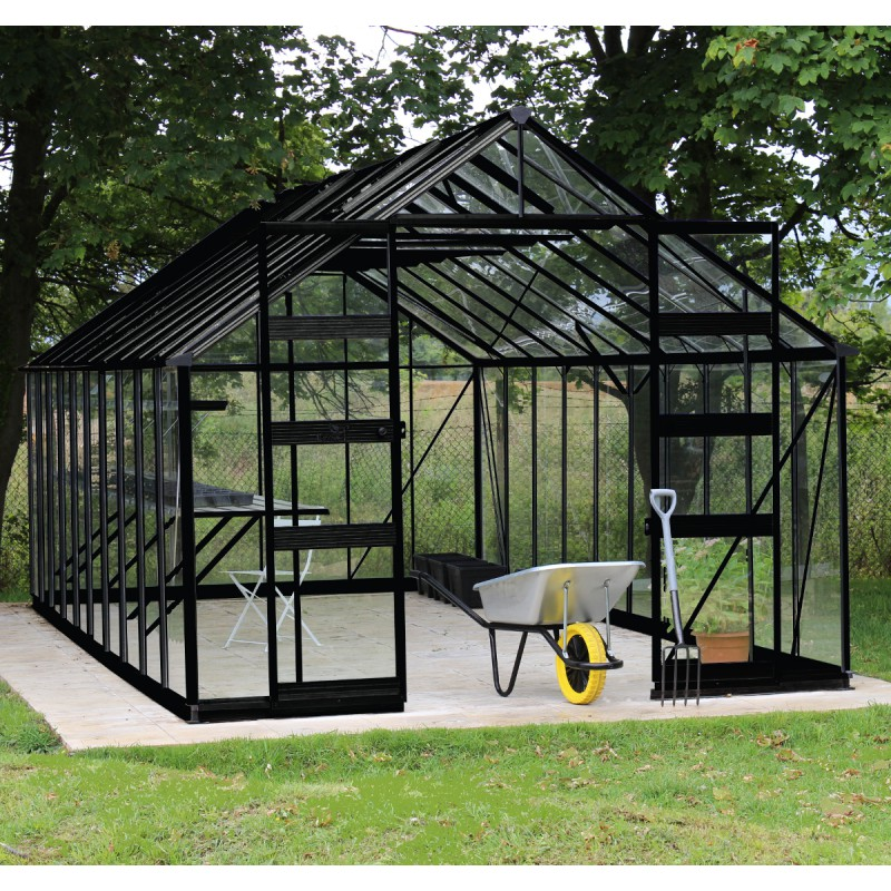 gew chshaus 19 92m sicherheitsglas bourton schwarz eden greenhouses. Black Bedroom Furniture Sets. Home Design Ideas